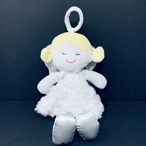 "Baby Gear 12"" Plush Angel Doll Blonde White Silver Wings Dots Halo Lovey Stuffed"