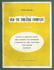 1949-50 OLD VIC THEATRE COMPANY BROCHURE FOR SIXTH SEASON MICHAEL REDGRAVE ETC