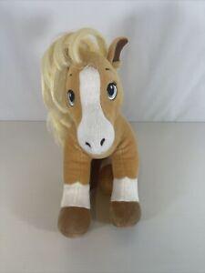 Build A Bear Palomino Plush Pony Spirit Horse & Hearts Riding Club  EUC