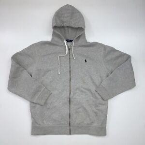 Polo Ralph Lauren Hoodie Sweatshirt Adult 2XL Gray Full Zip