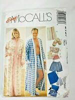 McCall's EASY Misses & Mens Robes & Gift Accessories  Pattern #9137  Sm Med Lg