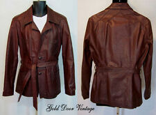 Rare Style Vtg EAST WEST MUSICAL INSTRUMENTS Oxblood Leather Jacket M