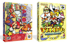 Paper Mario N64 Replacement Cartridge Game Case Box + Cover Art (No game)