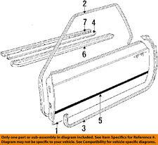 BMW OEM 635CSi Door-Window Sweep Belt Molding Weatherstrip Right 51211873462