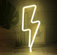 Neon Lightning Bolt Led Sign Light Wall Hanging Decor Custom Art Home Design New