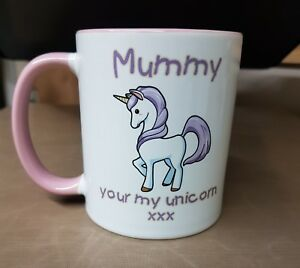Pink & White Unicorn gift Mug,Mothers Day Birthday,Love, christmas,occasion