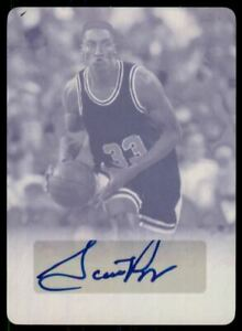2016 Leaf Sports Heroes Printing Plate Magenta #SPI Scottie Pippen Auto /1