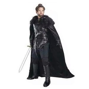 Adult Dragon Knight Costume Jon Snow Medieval DLX Game of Thrones XS, S, M