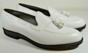 Footjoy Classics White Tassel Loafer New Old Stock Size 9.5 C Narrow Made in USA