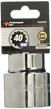 "40MM METRIC 12 POINT 3/4"" DRIVE SOCKET CHROME VANADIUM"