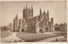 """""""Hundred Year old postcard from collection"""" Hereford Cathedral from NW"""