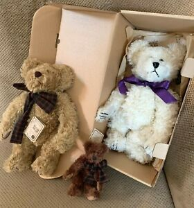 Boyds Bears Mohair • Lot of 3 • White in Box • Uncle Gus • Honeybunch