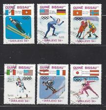 GUINEA-BISSAU - 529-534 - USED - 1984 - WINTER OLYMPICS, SARAJEVO