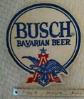 """Busch Bavarian Beer Vintage Patch Embroidered Ale 7-3/4"""" inch  Eagle employee"""