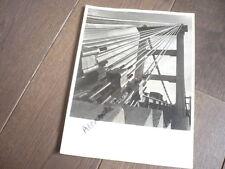 PHOTO 1943 CONSTRUCTION DU PONT DU TEIL RHONE BRIDGE ANCRAGE