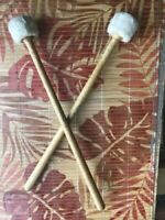 10% Off. 1970s  USED VINTAGE FELT LUDWIG DRUM MALLETS IN GOOD CONDITION