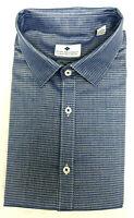 Ryan Seacrest Men's Slim-Fit Spread Dress Shirt, Blue/Silver, Size 17 32/33