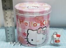 Sanrio Hello Kitty Tin Coin Bank With Figure Mascot  #8