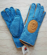 INVICTA vintage gloves ski winter true leather vera pelle padded