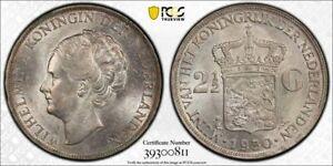 Netherlands 1930 MS63 2 1/2 gulden in PCGS holder