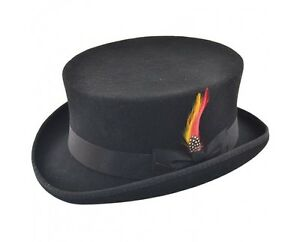 Top Hat - Hand Made English Classic Junior, DeadMan Top Hat, 100% Wool - Goggles