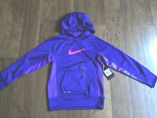 NIKE THERMA-FIT YOUTH GIRLS HOODIE SWEATSHIRT PURPLE SIZE S POLYESTER
