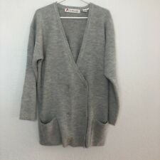 Vintage Chaus Cardigan in Heathered Gray With Original Tags Size Small Wool Blen
