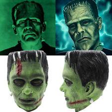 Green Frankenstein Monster Masks Latex Boris Karloff Halloween Horror Fancy Mask
