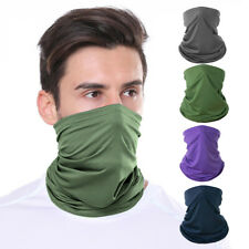 Ice Silk Face Mask Neck Gaiter Scarf Headwear Tube Sport Cycling Fishing Bandana