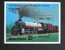 Bhutan 1987 Railway Capex 87 Miniature Sheet MNH Um unmounted mint MS train
