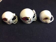 3 Arizona Cardinals FOOTBALL HELMETS NFL MINI GUMBALL HELMETS