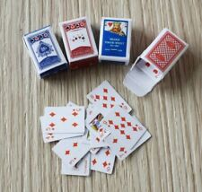 Doll House Accessories 1:12th Miniature 4 Mini Deck of Cards