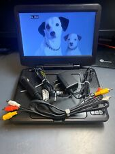 RCA DRC98090 9-inch Rechargeable Portable DVD Player w/ Chargers & Cable