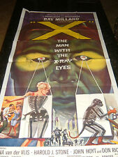 X - THE MAN WITH THE X-RAY EYES Original Poster, C8.5, Very Fine to Near Mint
