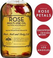 Provence Beauty ROSE MULTI-USE OIL for Face Skin Hair Body and Nails Moisturizer
