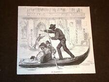 Moda e costume a Venezia nel 1877 In gongola - Il gondoliere