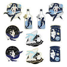 Creative Astronaut Whale Brooch Cartoon Personality Exquisite Enamel Pin Jewelry