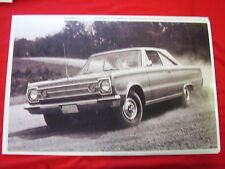 1966 PLYMOUTH SATELLITE 2DR HARDTOP  11 X 17  PHOTO /  PICTURE