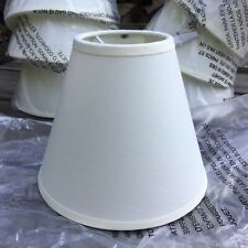 New Unused Small Clip On Bulb Lampshade Cream Cotton Fabric Shade