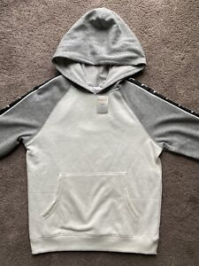 Gymboree Boys White / Gray Pullover Hoodie Size Large (10-12) - New