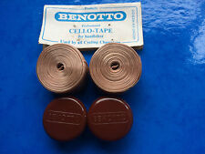 NOS VINTAGE BROWN BENOTTO PROFESSIONAL HANDLEBAR TAPE & PLUGS,IDEAL FOR L'EROICA