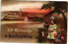 CPA Un bonjour de Marcilly-en-Villette (271346)