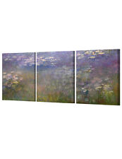 DecorArts Water Lilies in Giverny by Monet Giclee Print Stretched  3pcs 16x20