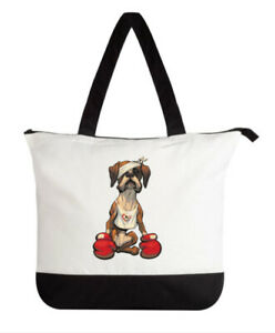 "Cornwall & South Devon Boxer Rescue ""Johnny"" Tote Bag with zip"