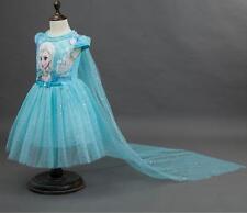 Frozen Girls Anna Elsa Princess Dress Pageant Kids Dresses Formal Party Skirt
