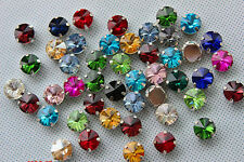 50pcs 12mm sew on point back rhinestone round shape glass beads gem stone DIY