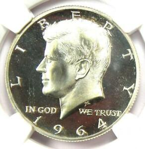 1964 Proof Accented Hair Kennedy Half Dollar 50C - NGC PR67 Cameo - $575 Value