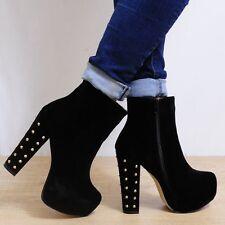 Block Heel Faux Suede Knee High Boots Unbranded Women's