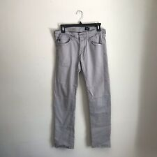 AG Gray Silm Straight Jeans 30