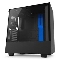 NZXT H500i, Blue/Black, Mid Tower Computer Chassis, Tempered Glass Window,